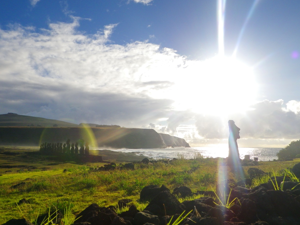 Ile de Paques: l'Ahu Tongariki.