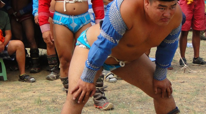 Le naadam festival du desert de Gobi.