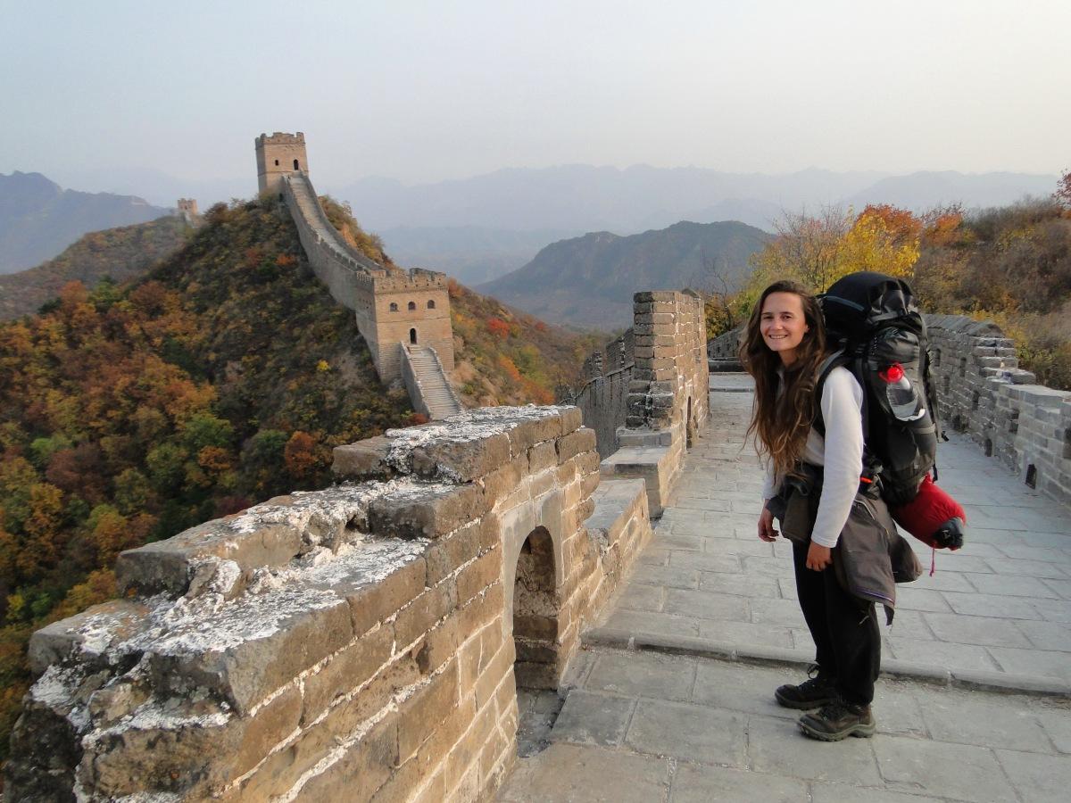Camping sur la Grande Muraille de Chine.
